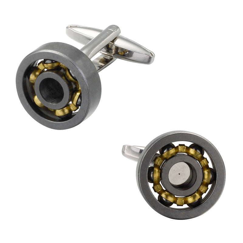 BALL BEARING SILVER CUFFLINKS