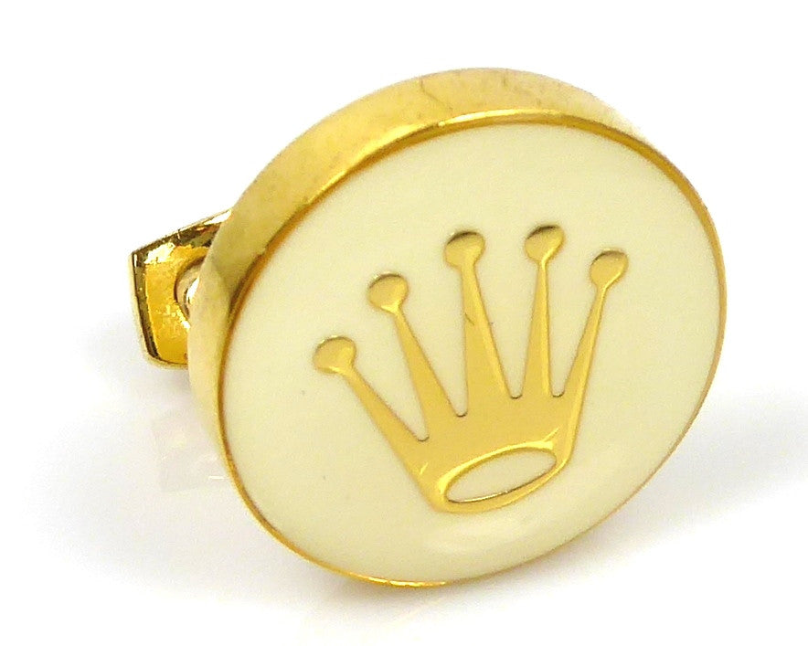 Rolex inspired 18K gold plated round cufflinks