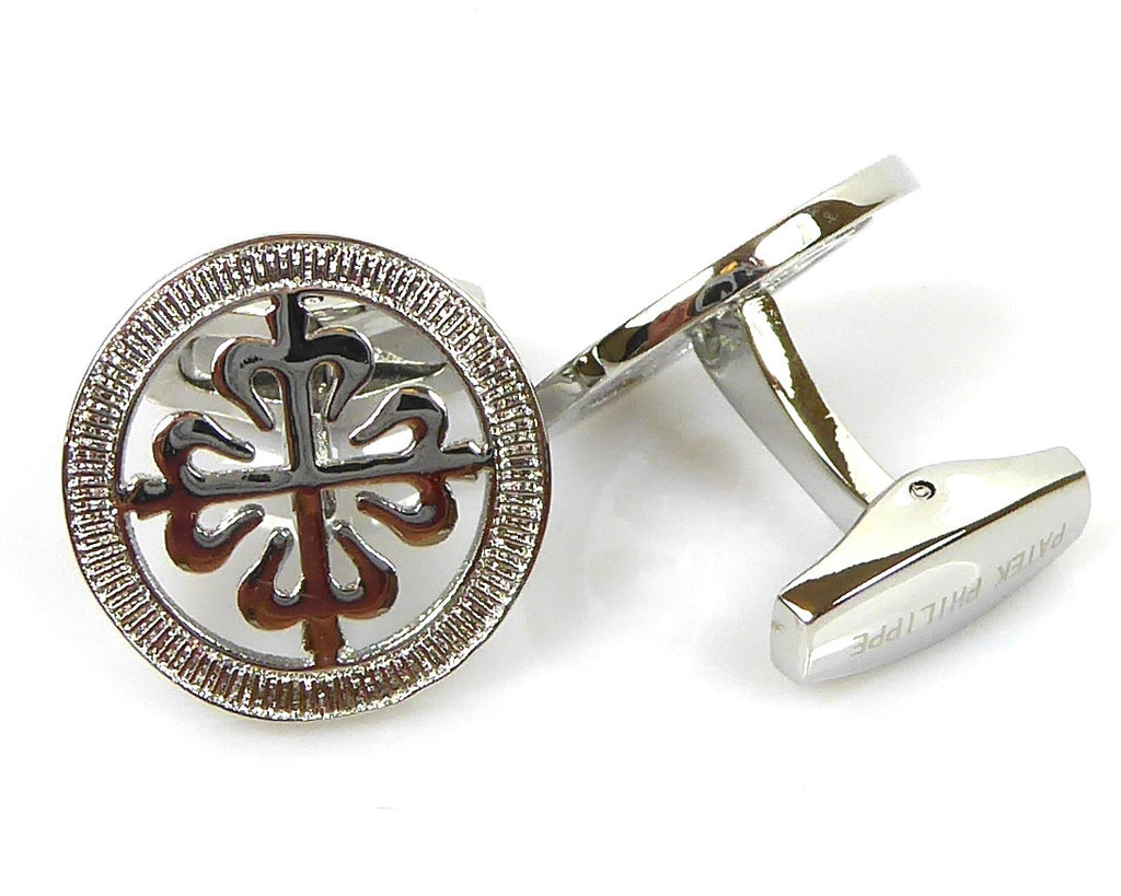 Patek Philippe inspired silver cufflinks