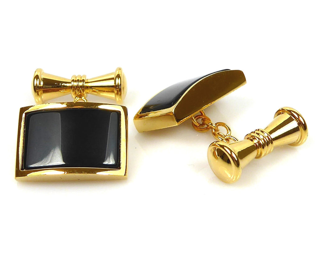Black Onyx Chain Cufflinks