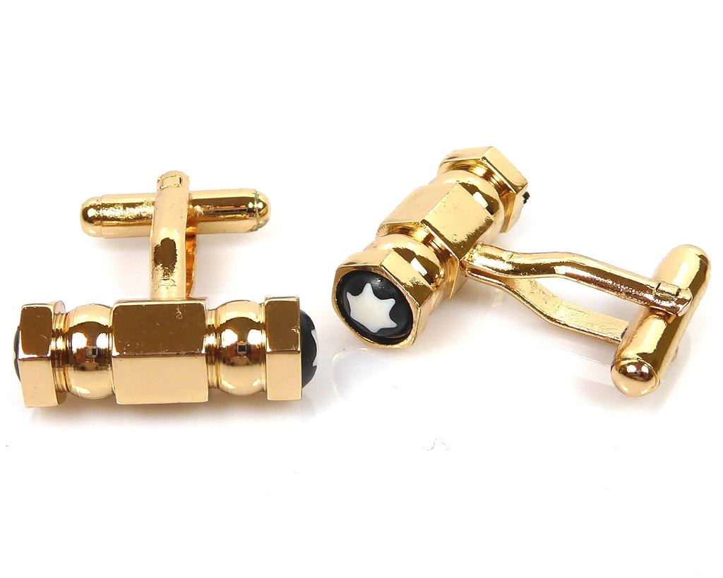 Gold Mont Blanc inspired Cufflinks