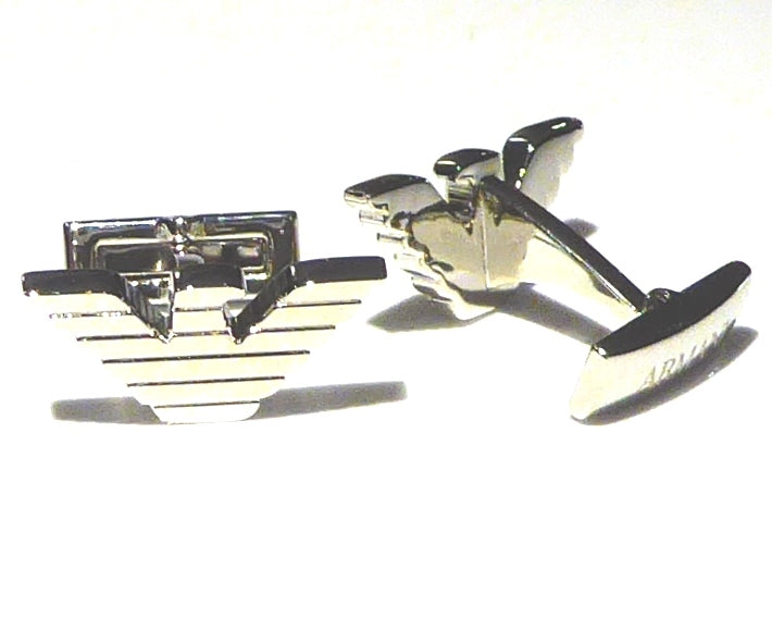 Armani inspired silver plated cufflinks