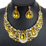 Yellow Crystal Necklace & earrings