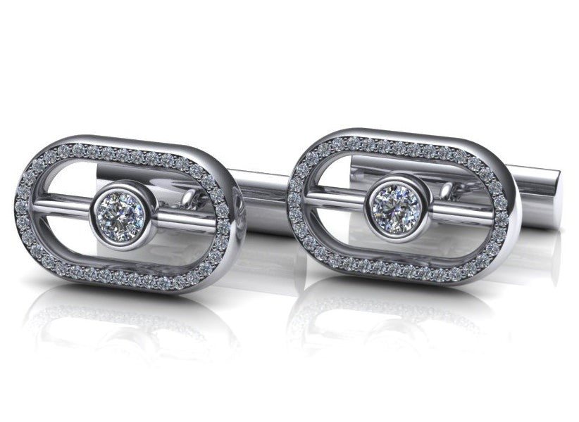 Fineness Design Diamond Cufflinks
