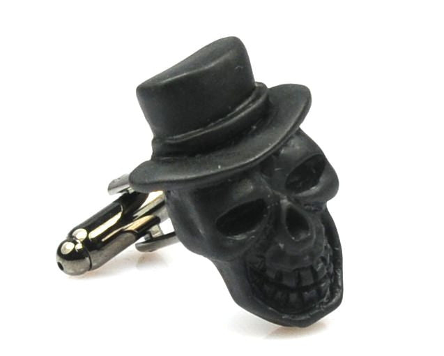 Skull design metal cufflinks