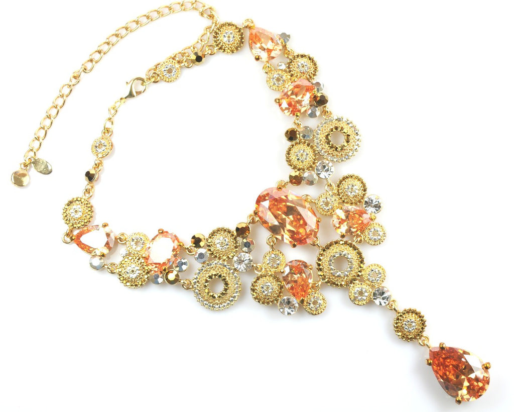 Gold Stones Necklace