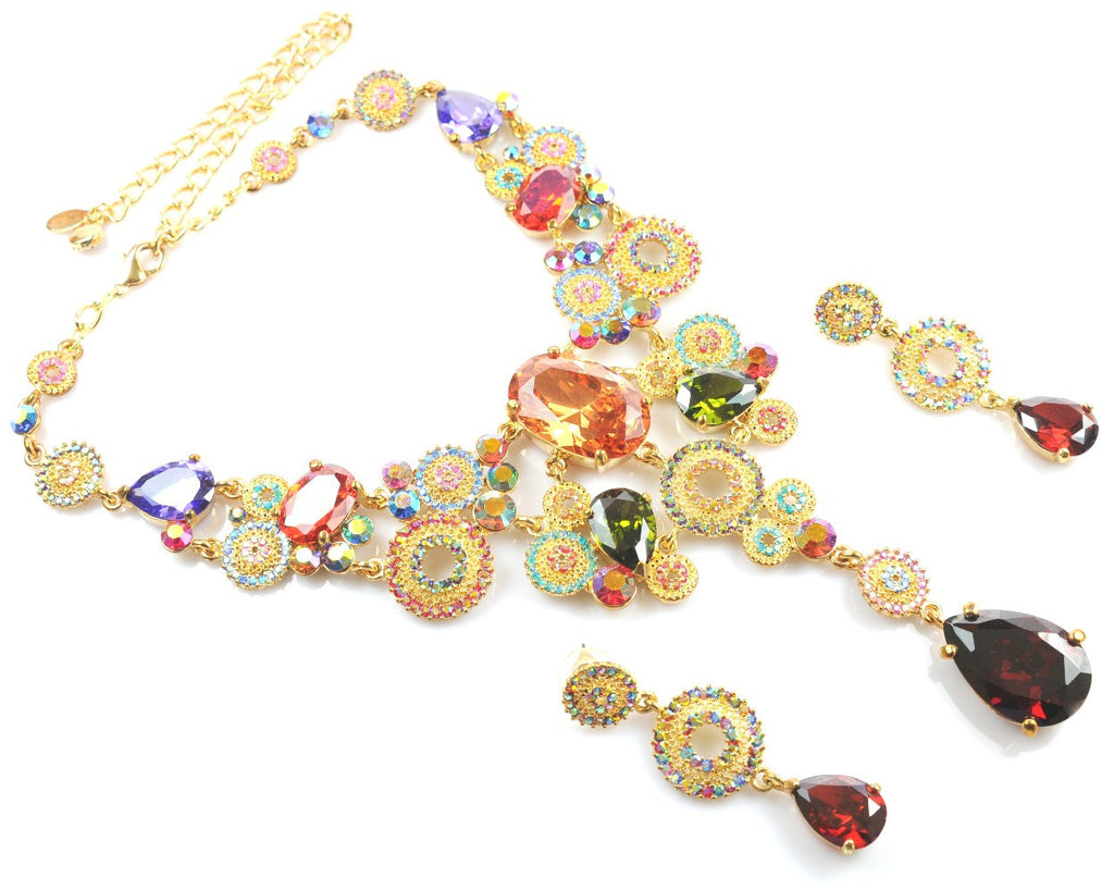 Multicolour Necklace & Earrings