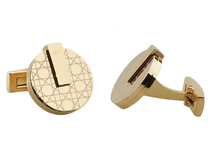 CD inspired gold plated cufflinks