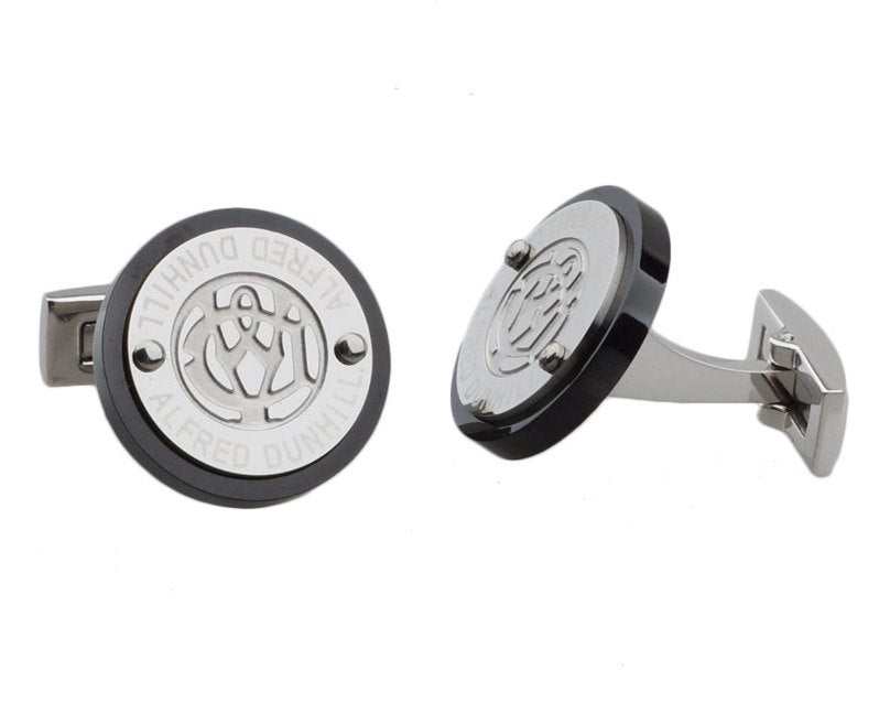 Dunhill inspired silver plated cufflinks