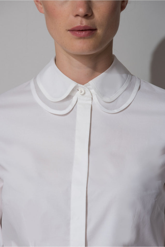 SOFIA DOUBLE LAYER COLLAR SHIRT