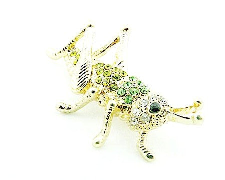 Locusts Cricket Crystal Rhinestone brooch