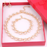 Gold Pearl Classic JEWELLERY SET