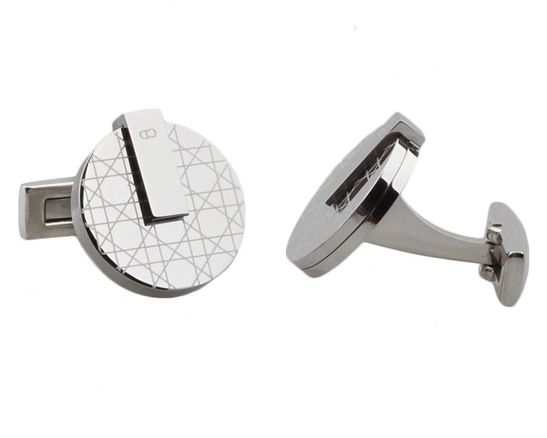 CD inspired silver plated cufflinks