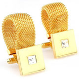 Lawyer Square Gold Copper Cufflinks