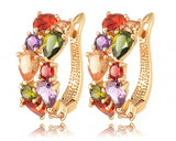 Multicolour Earrings 18K Gold Plated