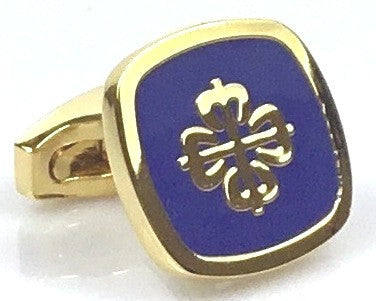 Patek Philippe inspired blue gold plated cufflinks