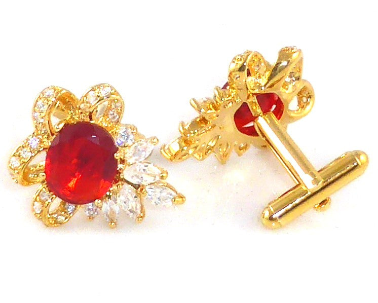 Hot Red Ruby Cufflinks