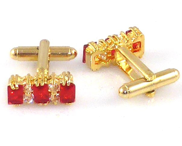Red Garnet Ruby Charming Cufflinks