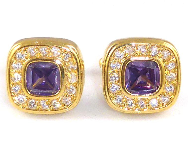 Purple Amethyst Cufflinks