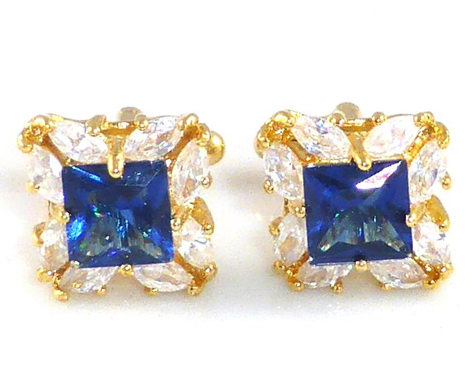 Stylish Royal Blue Sapphire Cufflinks