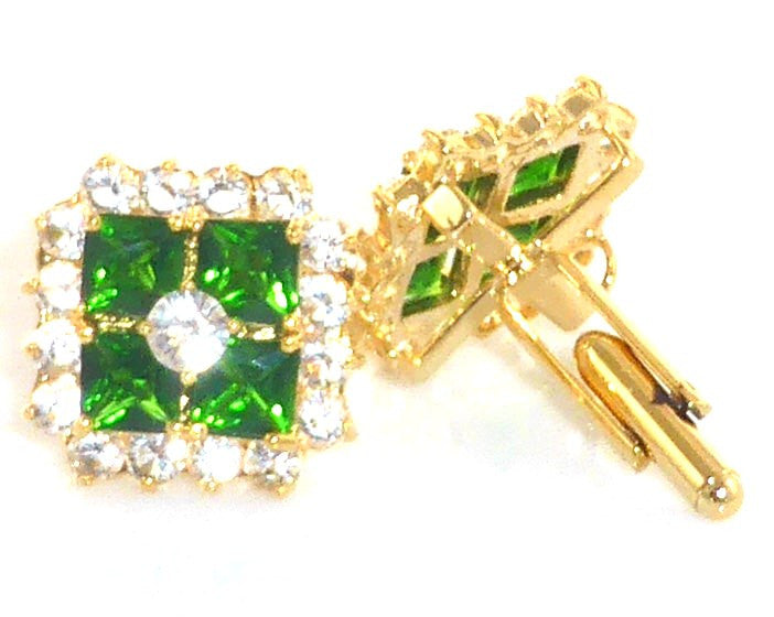 Green Emerald Cufflinks