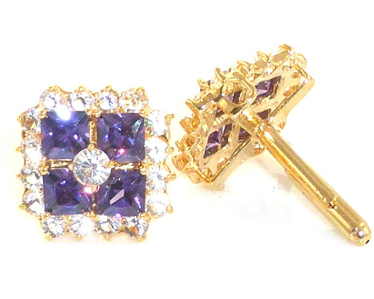 Purple Amethyst Topaz Cufflinks
