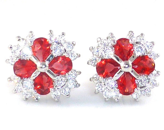 Charming Ruby Pear Cut Cufflinks