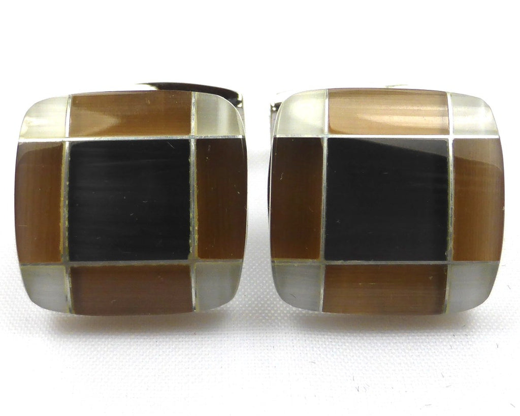 Classic Square Brown Cufflinks