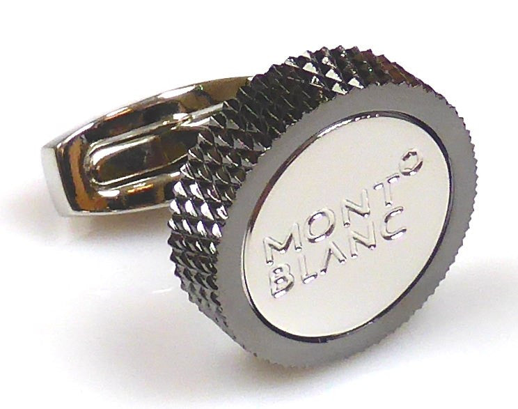 Mont Blanc inspired black gun plated cufflinks