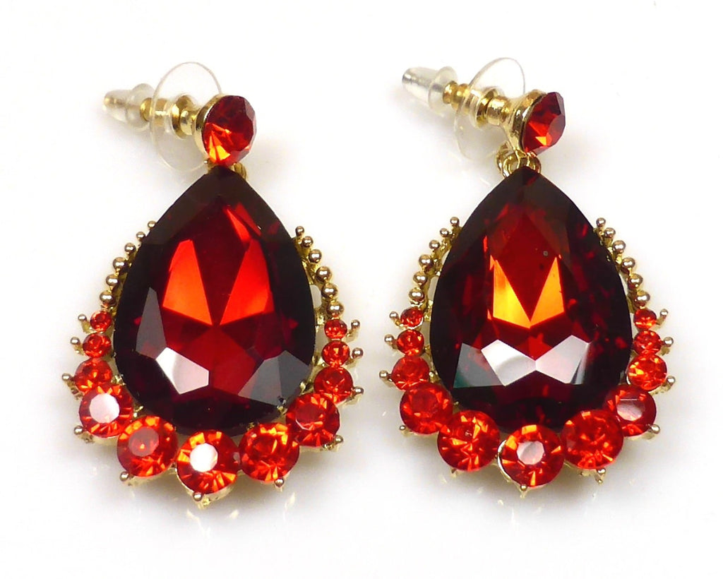Red Crystal Necklace & earrings