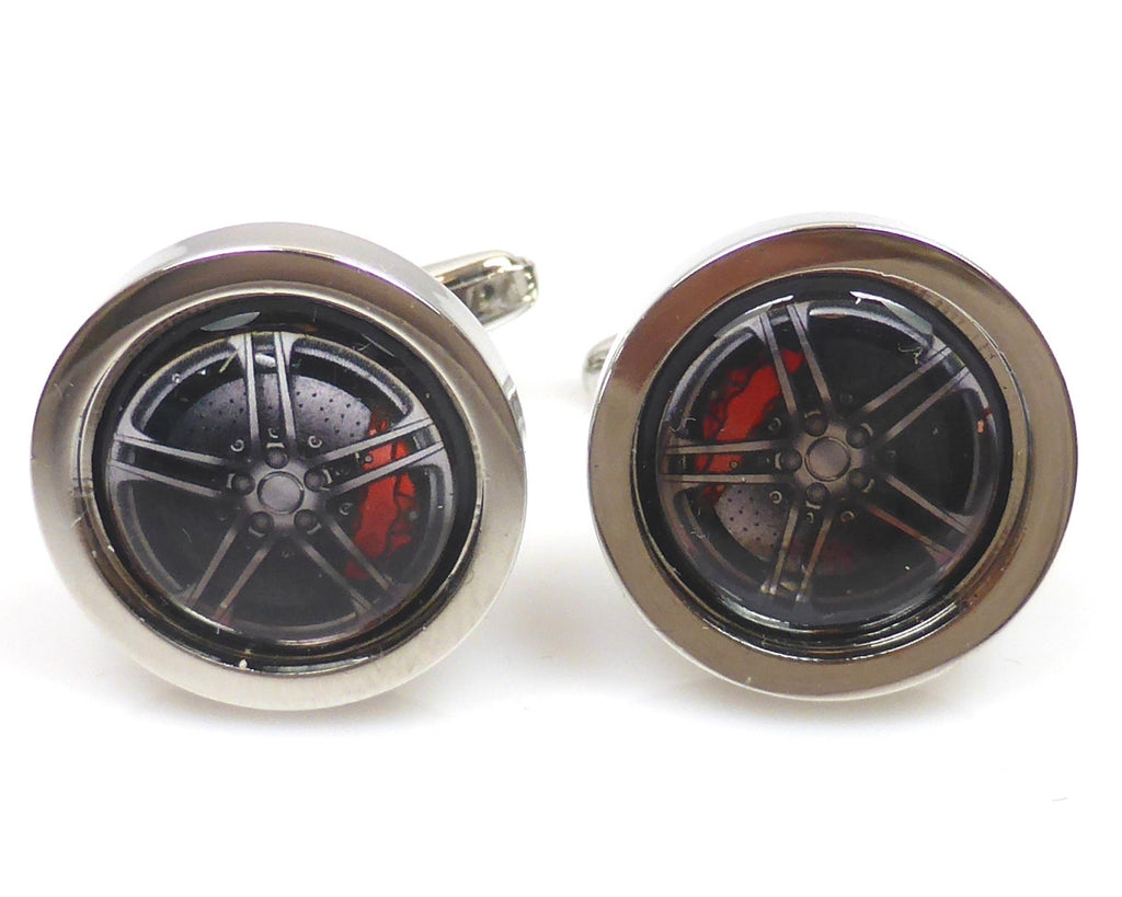 Sports car alloys cufflinks