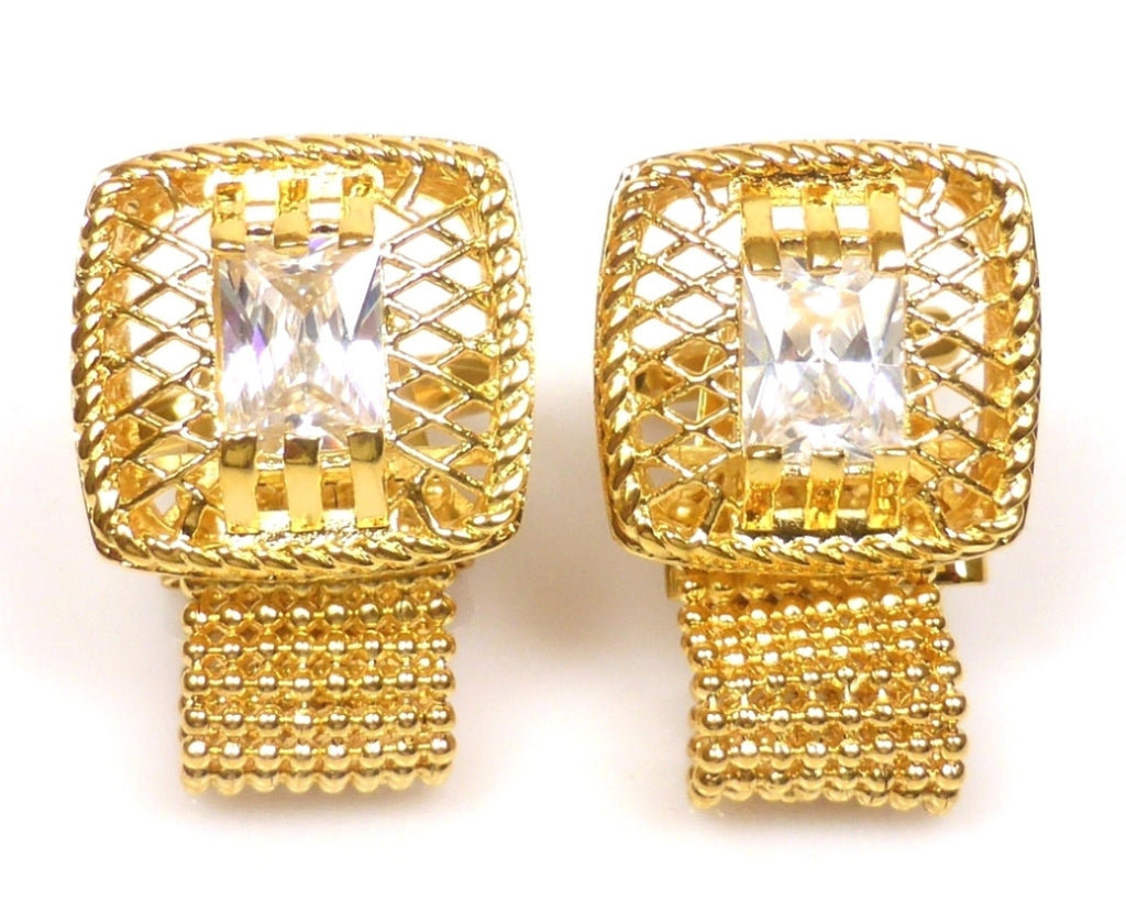Gold classic 18K gold chain Cufflinks