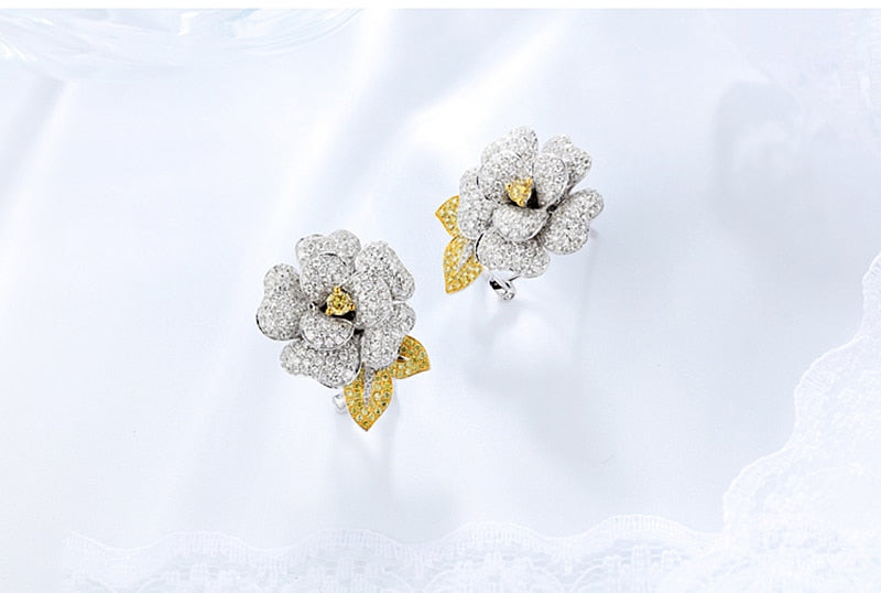 Yellow Sapphire Clip Earrings