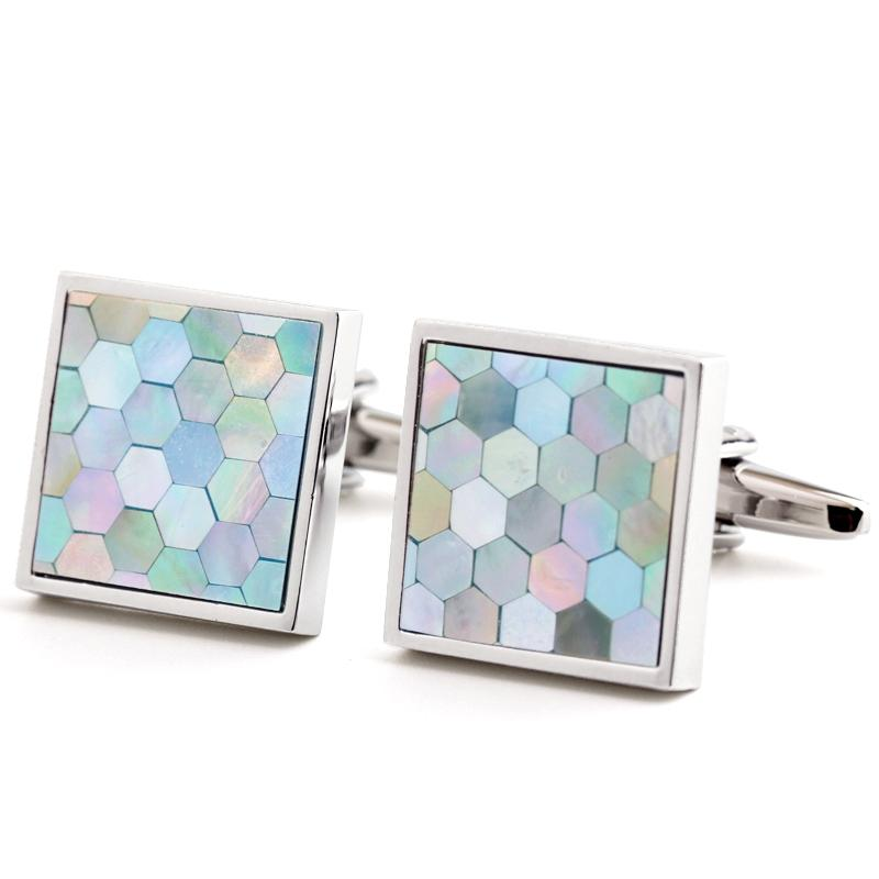 BLUE SHELL CUFFLINKS
