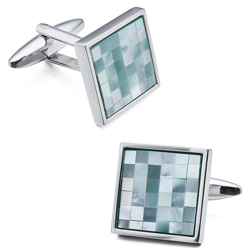 MOSAIC SHELL CUFFLINKS