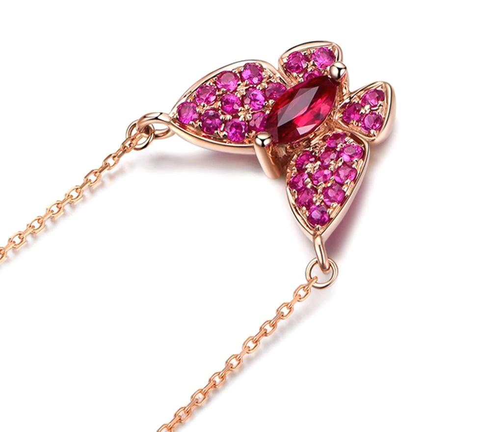 Butterfly Design Ruby Pendant