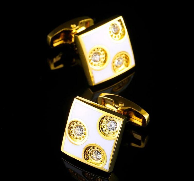 Crystal Copper Gold Cufflinks