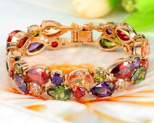 Multicolour Bracelet 18K Gold Plated