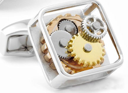 Steampunk Gear Watch Mechanism Cufflinks