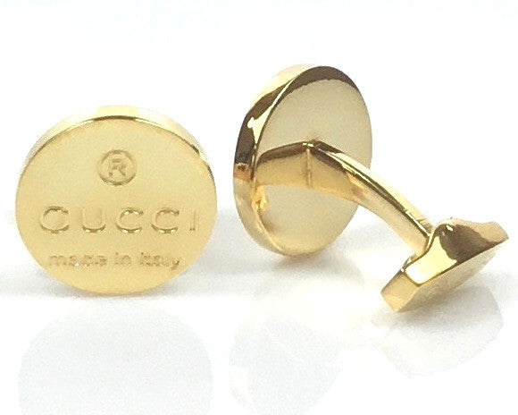 Gucci inspired gold plated cufflinks