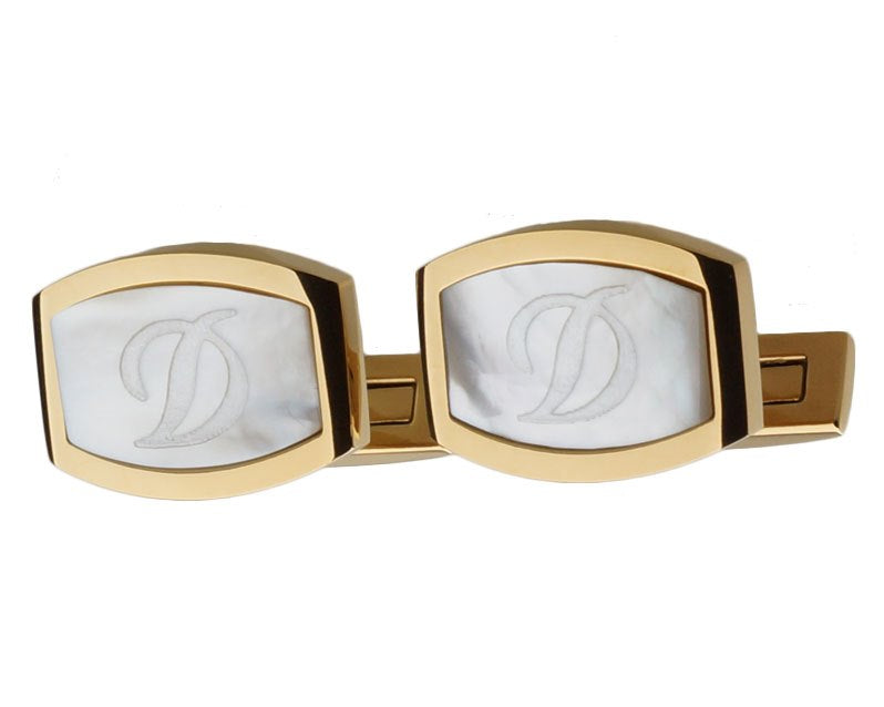 Dupont inspired gold plated cufflinks