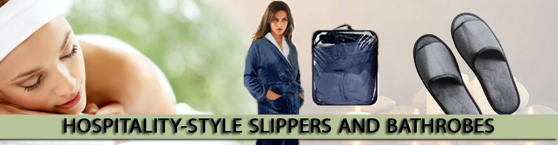 Hospitality-Style Bathrobes & Slippers