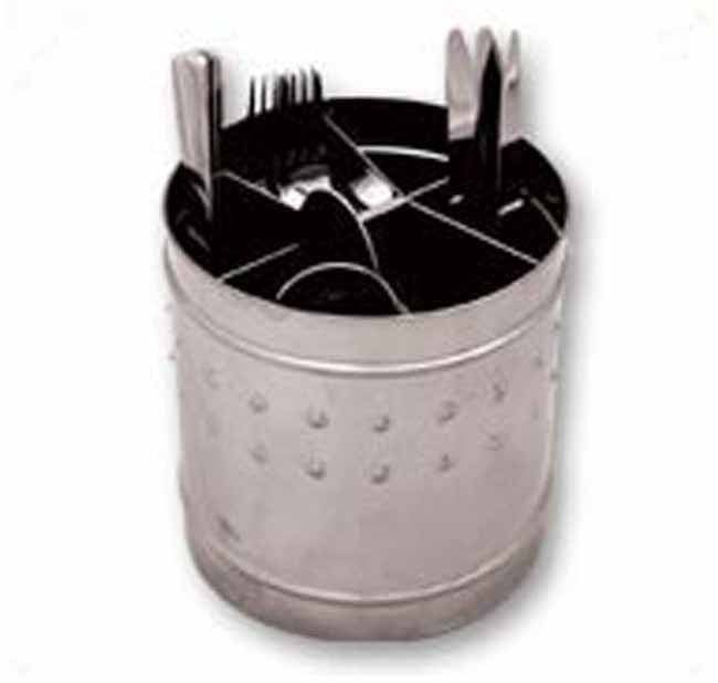 Matt stainless steel 6 division cutlery tub