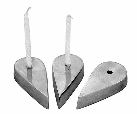 Aluminium candle holder tear drop