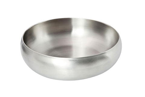 Stainless steel 'round' salad bowl (22cm)