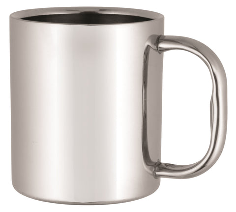 Stainless steel double wall coffee mug (250ml)