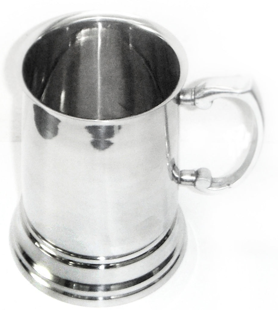 Stainless steel single wall beer mug (600ml)
