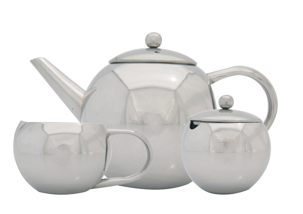3pc stainless steel tea set