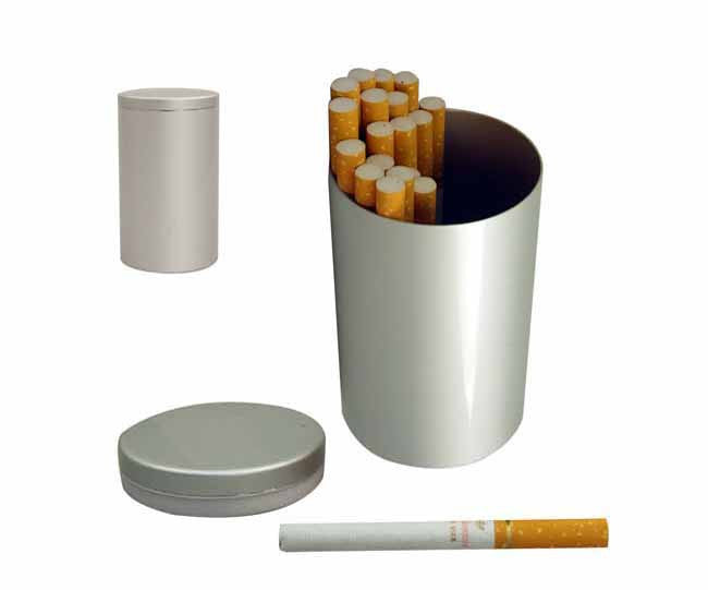 Aluminium table cigarette holder
