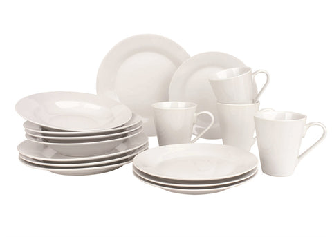 16pc white dinner set in presentation box